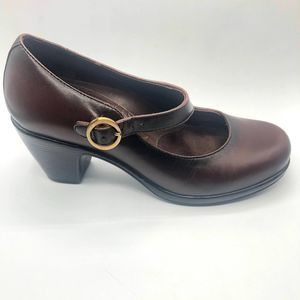 Dansko Brown Leather Mary Janes Size 36/5.5
